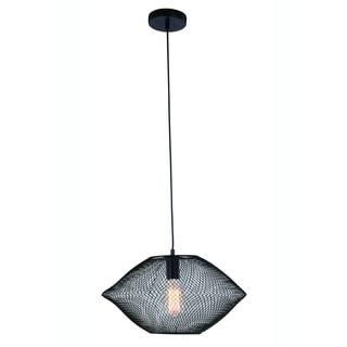 Elegant Lighting Brighton 17.5-inch Pendant Lamp with Black Finish