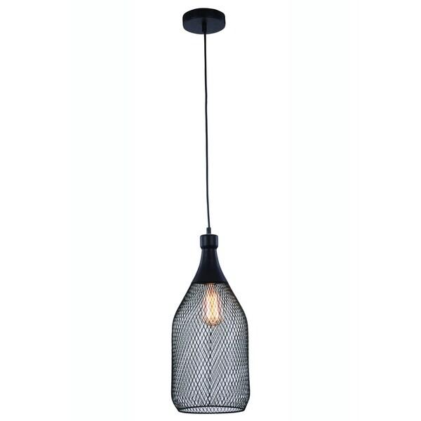 Elegant Lighting Brighton 7.5-inch Pendant Lamp with Black Finish