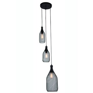 Elegant Lighting Brighton 12.5-inch Pendant Lamp with Black Finish