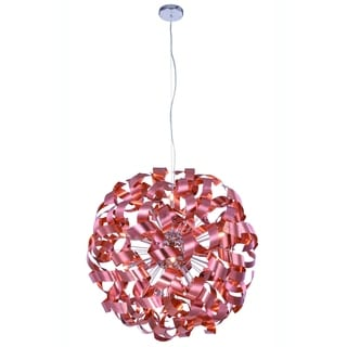 Elegant Lighting Fusion 31-inch Pendant Lamp with Brushed Copper Finish
