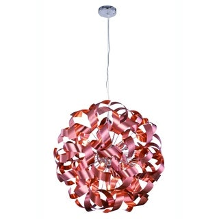 Elegant Lighting Fusion 25-inch Pendant Lamp with Brushed Copper Finish