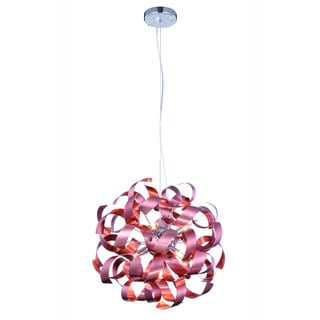 Elegant Lighting Fusion 17-inch Pendant Lamp with Brushed Copper Finish