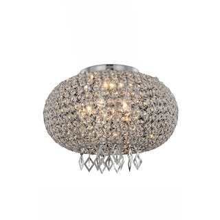 Elegant Lighting Brida 16.7-inch Pendant/Flush Mount with Chrome Finish and Crystal