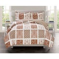 Lavish Home Collection Ceylon Printed Quilt Set