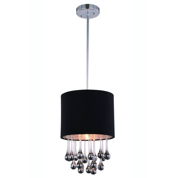 Elegant Lighting Metro 10-inch Pendant L& with Chrome Finish and Royal Cut Crystal  sc 1 st  Overstock.com & Elegant Lighting Metro 10-inch Pendant Lamp with Chrome Finish and ... azcodes.com