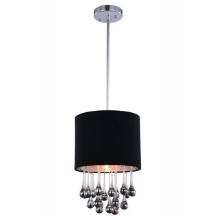 Elegant Lighting Metro 10-inch Pendant Lamp with Chrome Finish and Royal Cut Crystal