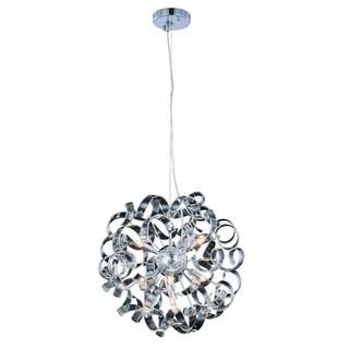Elegant Lighting Ritz 18-inch Pendant Lamp with Chrome Finish