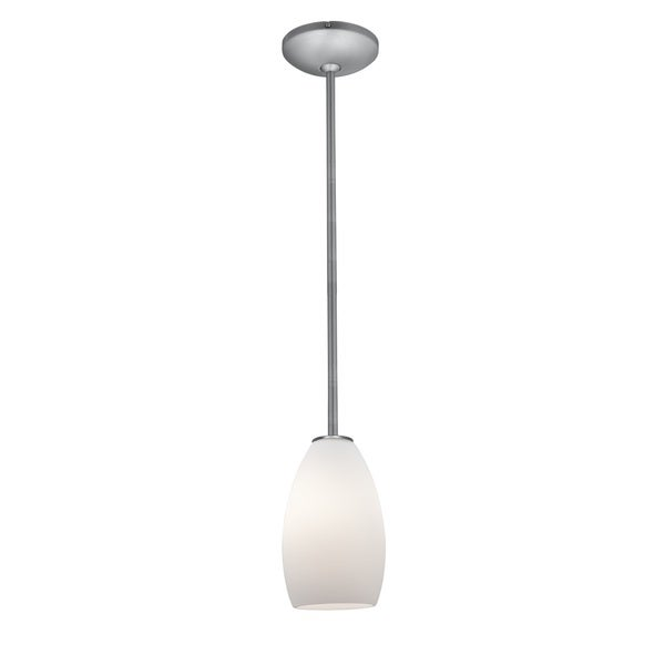 Access Lighting Japanese Lantern 12 inch Steel Fluorescent Rod Pendant with White Lined Shade