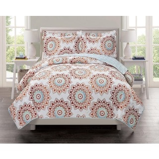 Lavish Home Collection Chandra Printed Quilt Set