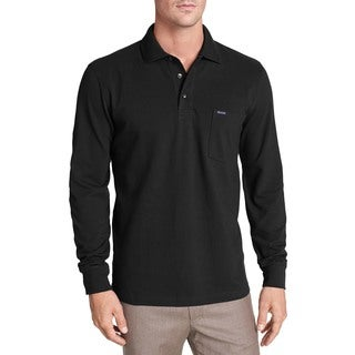 Faconnable Classique Black Long-sleeve Cotton Polo