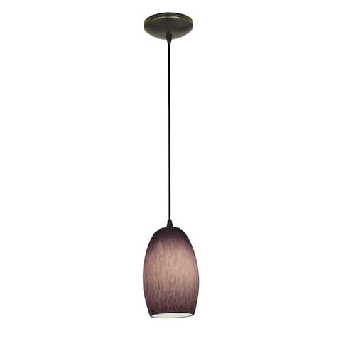 Access Lighting Chianti Bronze Cord Pendant with Purple Cloud Shade