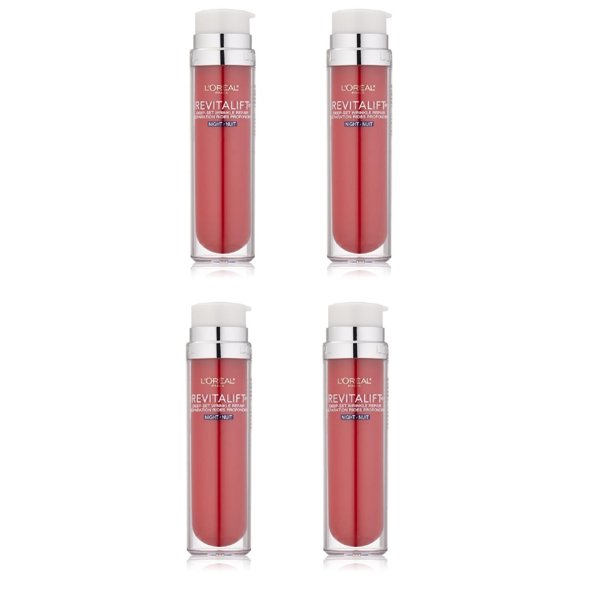 Shop L Oreal Paris Revitalift Deep Set Wrinkle Repair 4 Pack 1 7 Ounce Night Lotion Overstock 11884422