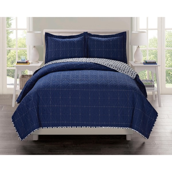 Lavish Home Collection Penny Lane Printed Quilt Set