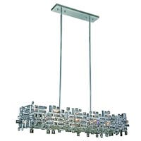 Elegant Lighting Picasso 44-inch Pendant Lamp with Chrome Finish and Crystal