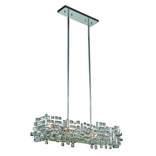 Elegant Lighting Picasso 35-inch Pendant Lamp with Chrome Finish and Crystal