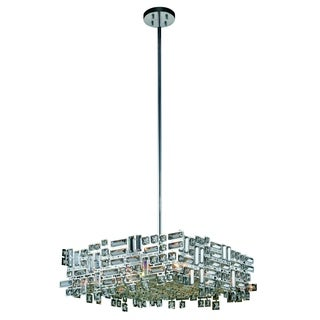 Elegant Lighting Picasso 24-inch Pendant Lamp with Chrome Finish and Crystal