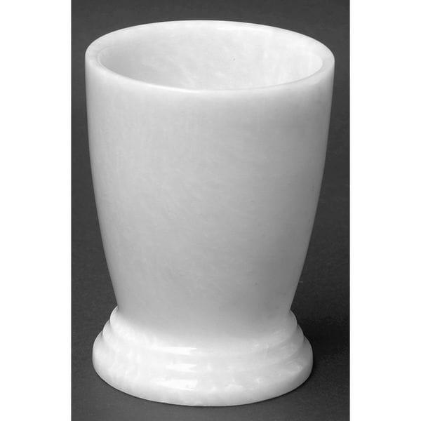 Nature Home Decor Atlantic Collection White Stone Marble Tumbler