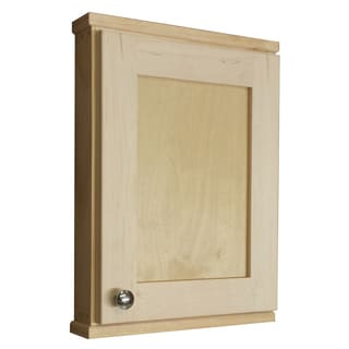 Shawnee Series Unfinished Wood Wall Cabinet with 2 Adjustable Glass Shelves
