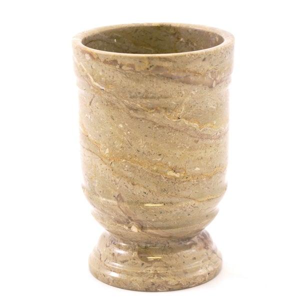 Nature Home Decor Tasmanian Collection Sahara Beige Marble Tumbler Bathroom Accessories