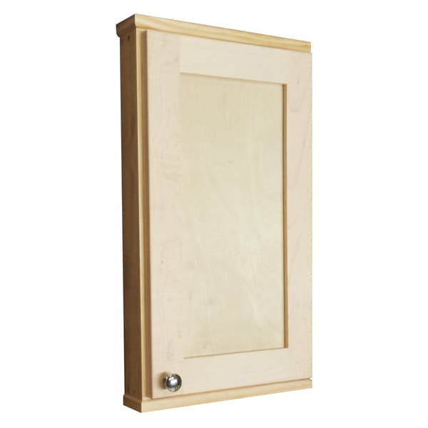 Shawnee Series 24 Inch Unfinished Pine Maple Wall Cabinet