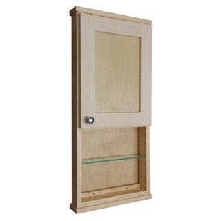 Shawnee Series 30-inch x 7-inch Deep On-the-wall Cabinet with 12-inch Open Shelf