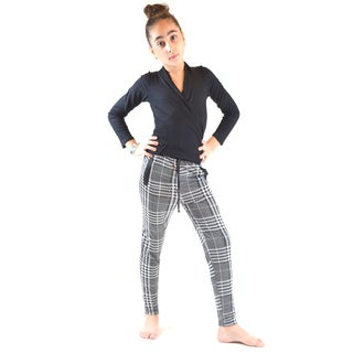 Dinamit Girls' Multi-color Polyester Spandex Flat Front Jogger Pants
