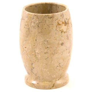 Nature Home Decor Pacific Collection Beige Marble Tumbler