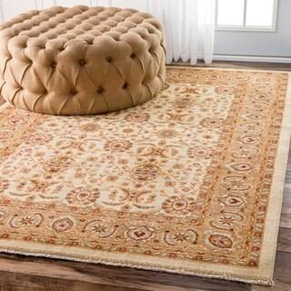 nuLOOM Traditional Persian Botanic Ivory Rug (8' x 10')