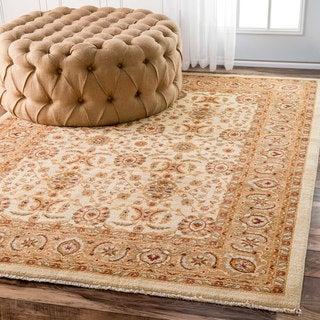 nuLOOM Traditional Persian Timeless Botanic Ivory Rug (2'7 x 4')