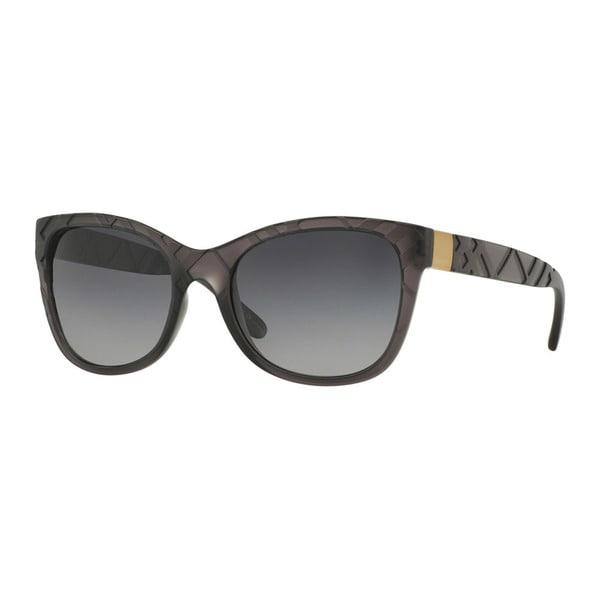 42560edc41c7 Shop Burberry Women s BE4219 3581T3 Grey Plastic Square Sunglasses ...