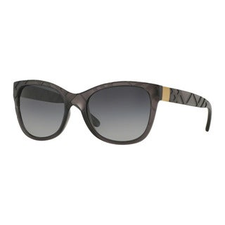 Burberry Women's BE4219 3581T3 Grey Plastic Square Sunglasses