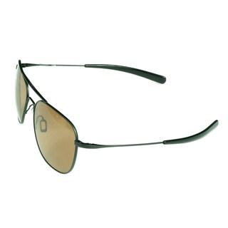 Serengeti Aerial Black Full-frame Aviator Sunglasses