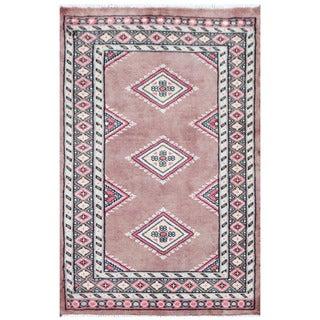 Herat Oriental Pakistani Hand-knotted Bokhara Brown/ Ivory Wool Rug (2' x 3')