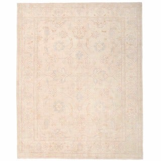 Herat Oriental Afghan Hand-knotted Oushak Wool Rug (7'11 x 9'11)