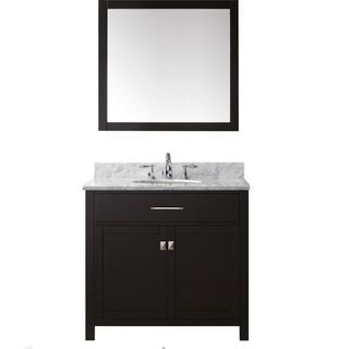 Virtu USA Caroline 36-inch Single Bathroom Vanity  Set with Faucet