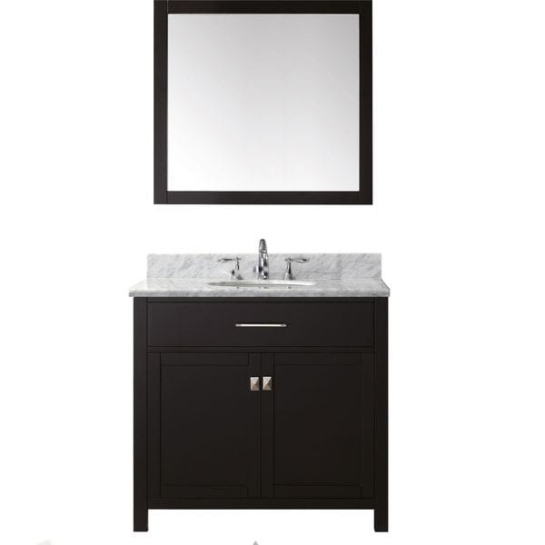 Virtu usa caroline 36 inch single bathroom vanity set with for Virtu usa caroline 36 inch single sink bathroom vanity set