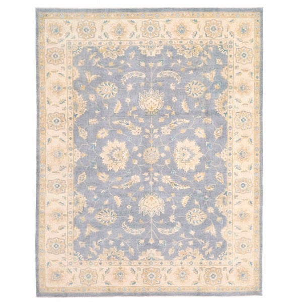 Herat Oriental Afghan Hand-knotted Oushak Wool Rug (8'11 x 11'4)