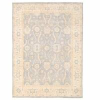 Handmade Herat Oriental Afghan Oushak Wool Rug (Afghanistan) - 8'9 x 12'2