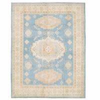 Herat Oriental Afghan Hand-knotted Kazak Wool Rug (7'8 x 9'11)