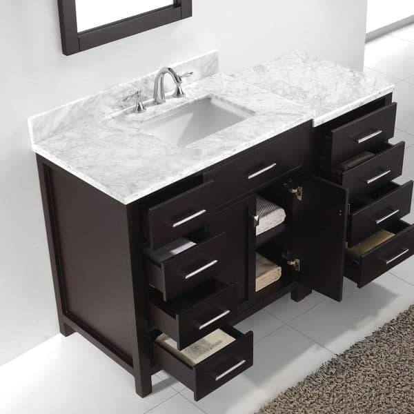 57 Inch Single Bathroom Vanity Set