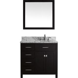 Virtu USA Caroline Parkway 48-inch Single Bathroom Vanity  Set with Faucet and Left Mounted Drawers