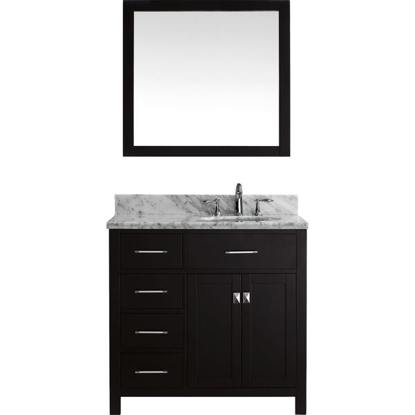 Shop caroline parkway 48 inch single vanity faucet and - Bathroom vanity with drawers on left ...