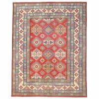 Herat Oriental Afghan Hand-knotted Kazak Wool Rug (10'5 x 13'4)