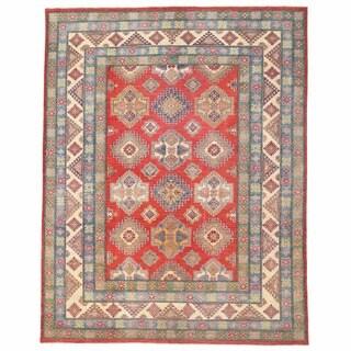 Handmade Herat Oriental Afghan Kazak Wool Rug (Afghanistan) - 10'5 x 13'4