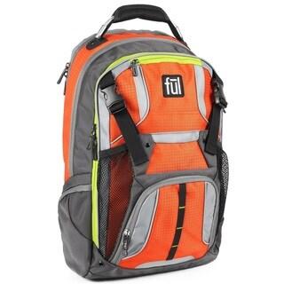 Ful Hexar Padded Orange Tablet/ eReader Sleeve Laptop Backpack for up to 17-Inch Laptops