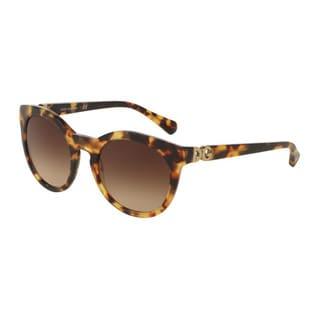 D&G Women's DG4279F 512/13 Havana Plastic Phantos Sunglasses