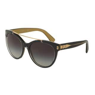 D&G Women's DG4280 29558G Black Plastic Round Sunglasses https://ak1.ostkcdn.com/images/products/11884752/P18781365.jpg?impolicy=medium