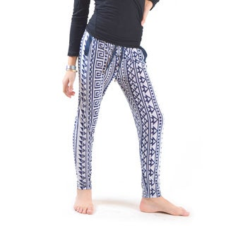 Golden Black Symmetry Print Knitted Joggers Pants