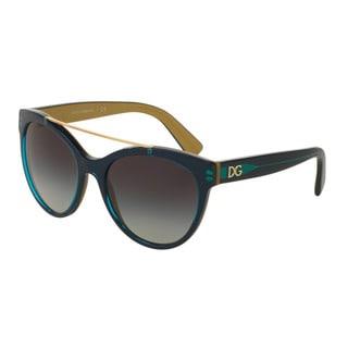 D&G Women's DG4280 29588G Gold Plastic Round Sunglasses