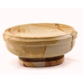Nature Home Decor Atlantic Collection Teak Marble Soap Dish